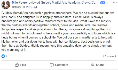 Preschools1, Guido's Martial Arts Academy